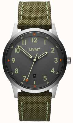 MVMT Uomo | campo | cinturino in tela verde | quadrante grigio 28000014-D