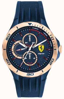 Scuderia Ferrari | pista maschile | cinturino in caucciù blu | quadrante blu | 0830724