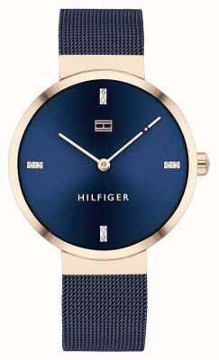 Tommy Hilfiger Libertà | braccialetto a maglie blu | quadrante blu | 1782219