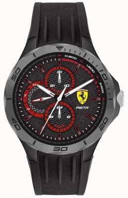 Scuderia Ferrari | pista maschile | cinturino in caucciù nero | quadrante nero 0830725