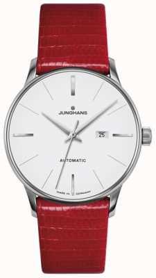 Junghans Pelle rossa automatica Meister da donna 027/4044.00