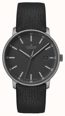Junghans Forma un | titano | automatico | cinturino in pelle nera | 027/2001.00