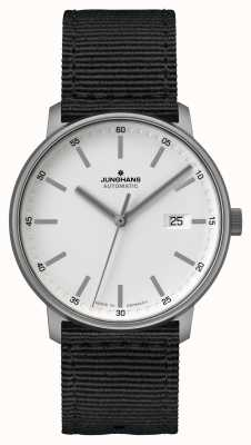 Junghans Forma un   titano   automatico   cinturino nato nero   quadrante bianco 027/2000.00