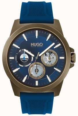 HUGO #twist | cinturino in caucciù blu | quadrante blu 1530130