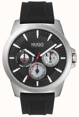 HUGO #twist | cinturino in caucciù nero | quadrante nero | 1530129