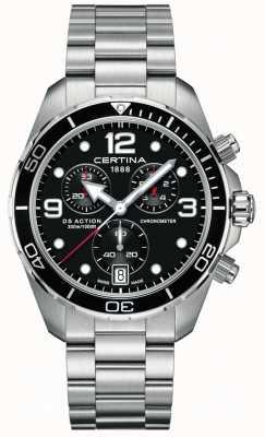 Certina Ds action chrono | cronometro | bracciale in acciaio inossidabile C0324341105700
