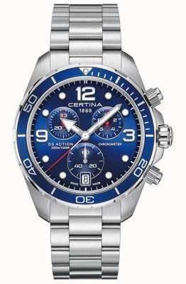 Certina Ds action chrono | cronometro | bracciale in acciaio inossidabile C0324341104700