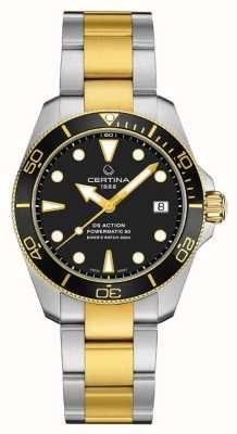 Certina Ds action diver | 38mm | powermatic 80 | due toni C0328072205100