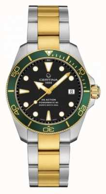 Certina Ds action diver | 38mm | powermatic 80 | due toni C0328072205101