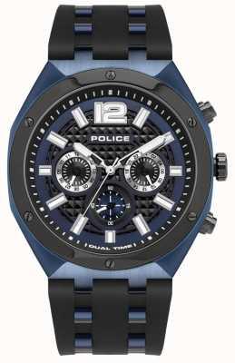 Police Kediri | cinturino in caucciù nero | quadrante blu 15995JSBLU/03P