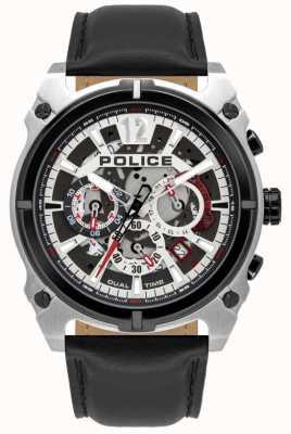 Police Antrim maschile | cronografo | cinturino in pelle nera 16020JSTB/04