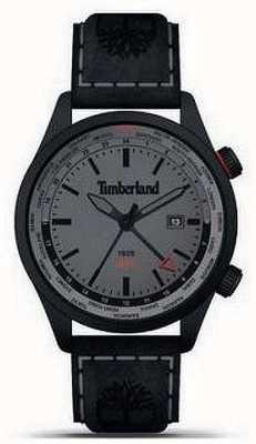 Timberland Uomo | malden | gmt | cinturino in pelle nera | quadrante grigio 15942JSB/13