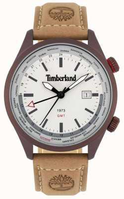 Timberland Uomo | malden | gmt | cinturino in pelle marrone | quadrante color crema 15942JSBN/13
