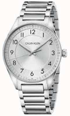 Calvin Klein | luminoso | bracciale in acciaio inossidabile quadrante argentato | KBH21146