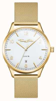 Thomas Sabo | glam e soul | bracciale da donna in maglia d'oro | quadrante bianco WA0361-264-202-36