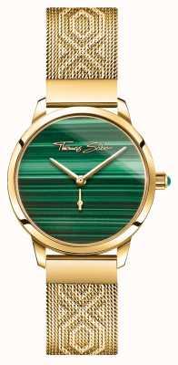 Thomas Sabo | glam e soul | spirito del giardino femminile | oro di malachite WA0365-264-211-33