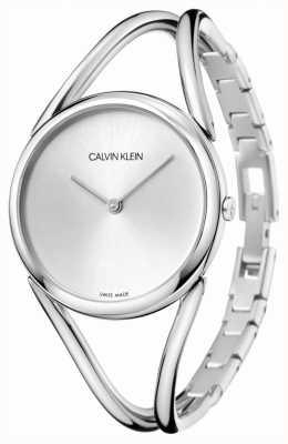 Calvin Klein | signora | bracciale in acciaio inossidabile quadrante argentato | KBA23126
