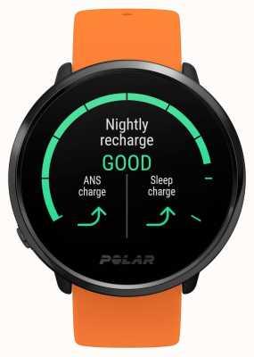 Polar | accendere | cinturino in caucciù arancione | cardiofrequenzimetro GPS | m / l 90081718