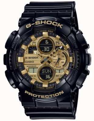 Casio Ora mondiale G-shock | cinturino in caucciù nero | GA-140GB-1A1ER