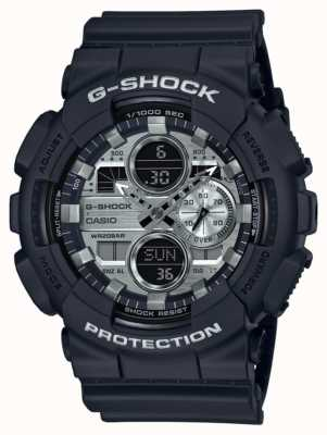 Casio | g-shock world time | gomma nera | quadrante nero GA-140GM-1A1ER