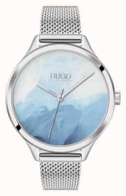 HUGO #smash | quadrante blush blu | maglia in acciaio inossidabile 1540061