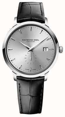 Raymond Weil Uomo | toccata | cinturino in pelle nera | quadrante argentato 5484-STC-65001