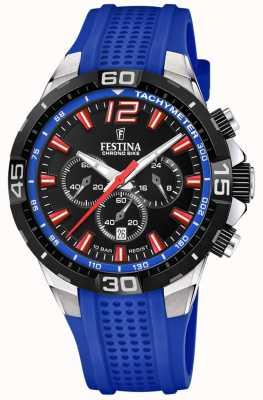 Festina Chrono bike 2020 quadrante nero cinturino blu F20523/1