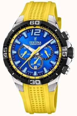 Festina Chrono bike 2020 quadrante blu giallo F20523/5