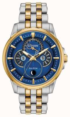 Citizen Uomo   eco-drive   fasi lunari   orologio con quadrante blu BU0054-52L