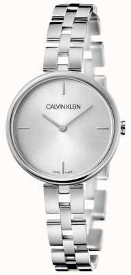 Calvin Klein Eleganza | bracciale in acciaio inossidabile | quadrante argentato KBF23146