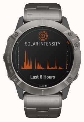 Garmin Fenix 6x pro solar | bracciale in titanio e cinturino arancione 010-02157-24