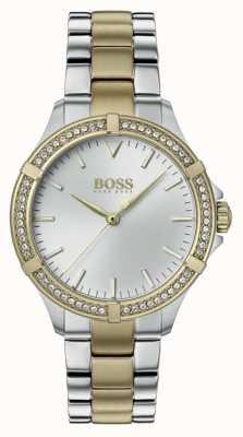 BOSS | mini sport femminile | bracciale in acciaio bicolore | quadrante argentato 1502467