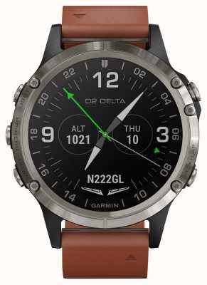 Garmin D2 delta aviator | cinturino in pelle marrone 010-01988-31