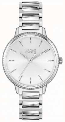 BOSS | firma femminile | bracciale in acciaio inossidabile quadrante argentato 1502539