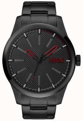 HUGO #invent | bracciale in acciaio nero | quadrante nero 1530148