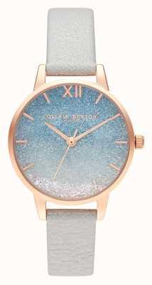 Olivia Burton Quadrante glitter onda desiderio | cinturino in pelle di perle OB16US26