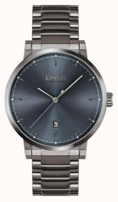 BOSS Fiducia | braccialetto placcato ioni grigio | quadrante blu 1513793