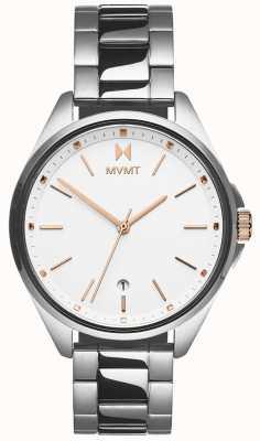 MVMT | coronada femminile | bracciale in acciaio inossidabile quadrante bianco 28000001-D