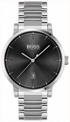 BOSS | fiducia degli uomini | bracciale in acciaio inossidabile quadrante nero 1513792