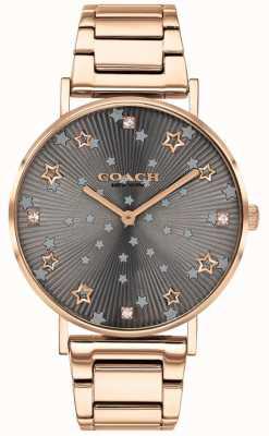 Coach | perry femminile | braccialetto pvd oro rosa | quadrante a stella grigio 14503524