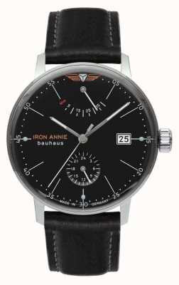 Iron Annie Bauhaus | automatico | cinturino in pelle nera | quadrante nero 5060-2