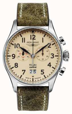 Iron Annie Quarzo controllo di volo | cinturino marrone | quadrante beige 5186-5