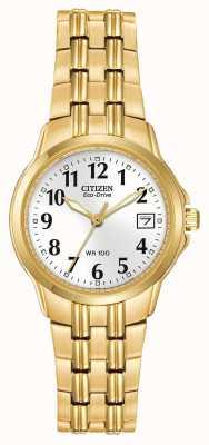 Citizen Orologio ip oro da donna silhouette sport eco-drive EW1542-59A