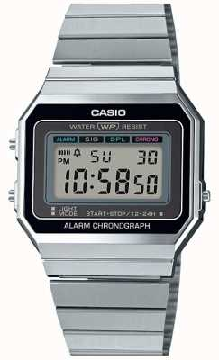Casio Annata | braccialetto d'argento | quadrante digitale | A700WE-1AEF