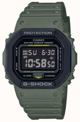Casio G-shock | cinturino in caucciù verde | Display digitale DW-5610SU-3ER
