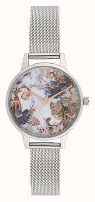 Olivia Burton Floreale in marmo | bracciale da donna in maglia di acciaio | quadrante floreale OB16CS16