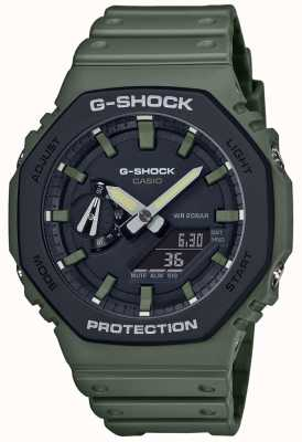 Casio G-shock | nucleo di carbonio | cinturino in caucciù verde | Display digitale GA-2110SU-3AER