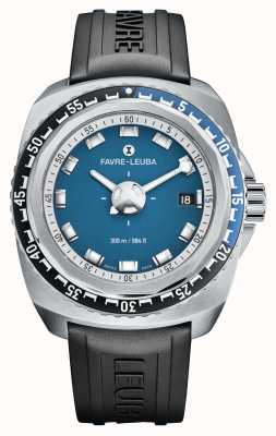 Favre Leuba Raider blu profondo 41 | cinturino in caucciù nero | quadrante blu | 00.10106.08.52.31