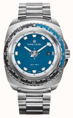 Favre Leuba Raider deep blue 44 | bracciale in acciaio inossidabile | quadrante blu | 00.10102.08.52.20