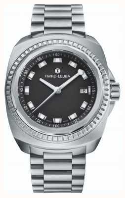 Favre Leuba Raider sea king | bracciale in acciaio inossidabile quadrante nero | 00.10107.08.11.20